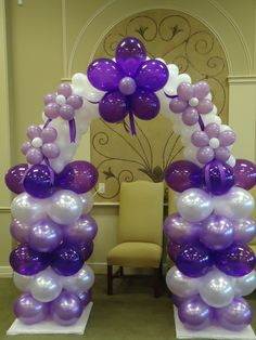 Balloon Arch with flowers