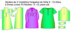 moldes vestiditos infaniles Pajama Pants, Pajamas, Fashion, Shirtdress, Cowls, Girls Dresses, Dress Patterns, Sewing Patterns, Pjs
