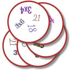 Dobble – Tables and desk ideas Multiplication Games, Multiplication And Division, Math Games, Fractions, Math 5, Guided Math, Shape Games, Montessori Math, Early Math