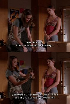 Funny Gilmore Girls quote. Haha love it! Lorelai and Rory at Yale. Gilmore Girls humor. I love this tv show!