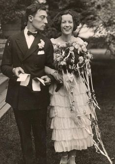 Buster Keaton and Natalie Talmadge on their wedding | May 31, 1921
