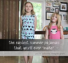 the easiest summer pajamas || imagine gnats #sewing