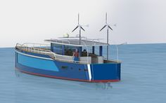 MC54E   concept electro drive yacht with solar&wind power