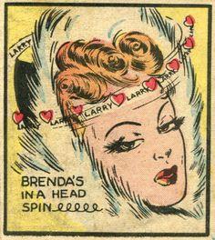 'my favorite comic strip'  From Brenda Starr #3 (1948) (via kinosian)