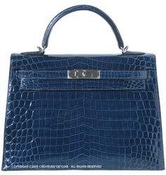 Hermes Crocodile Kelly Bag   This ... or a car?  hmmmm ... I just can't decide ! :)