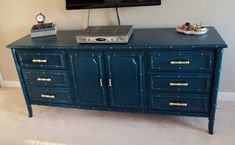 Transform an ENTIRE dresser. | 33 Ways Spray Paint Can Make Your Stuff Look More Expensive