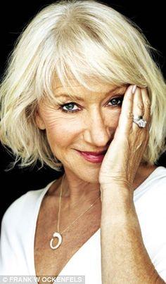 hair color for older women Helen Mirren
