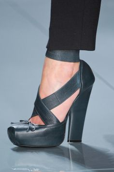 Christian Dior, Fall 2013 Pointe shoe inspired heels that are actually wearable! In pink or black.