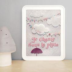 Affiche / Poster { Sous la pluie } @ môme nuage