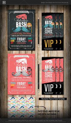 Valentine+Mustache+Bash+Invitation+&+Ticket