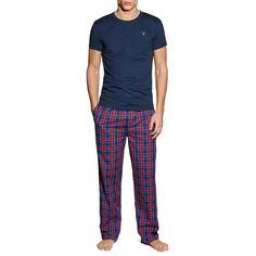 4a347fa973 Mens GANT Yale Pyjama Set Blue Red Small CS171 EE 15  fashion  clothing