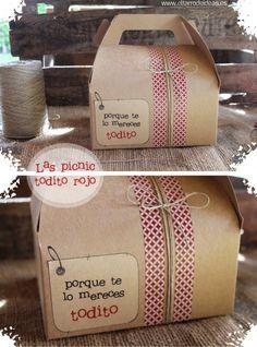Cajita Cake Boxes Packaging, Bake Sale Packaging, Craft Packaging, Food Packaging Design, Breakfast Basket, Picnic Box, Gift Wraping, Decorative Tape, Tea Box