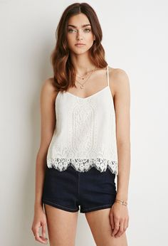 Floral Lace Cami - Tops - 2000054163 - Forever 21 UK