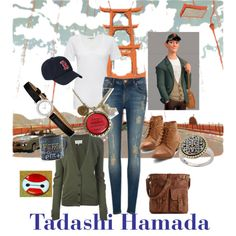 Tadashi Hamada by chytown09 on Polyvore featuring polyvore fashion style Maison Margiela Cotton Citizen Ted Baker Mix No. 6 Effy Jewelry Old Navy Disney Tadashi