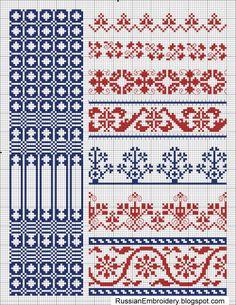 Старинные схемы для вышивки: Схема из журнала Родина и коллекции DMC