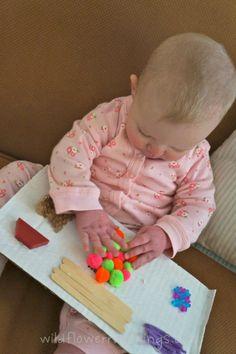 Baby sensory board {DIY}