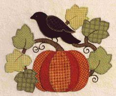 """~ Pumpkin, Leaves & Blackbird ~ Brandywine Designs....Can we say """"Love""""...."""