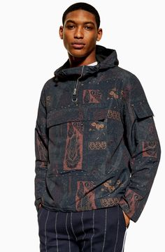 55bfaa9dd Product Info Classic fit Half zip fastening Overhead styling Front pouch  pocket Drawstring hood Men's Coats