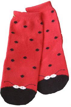 Little Ladies Ladybug Socks by Monkey Toes