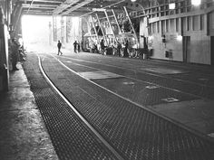 A reverse angle of the photo above showing the interior and a bit of the port side of original MV Abegweit . She could carry 950 passengers and 60 automobiles or 16 railway cars. Steam Engine, Diesel Engine, Train Station, Railroad Tracks, Automobile, Engineering, Street View, Cars, Interior