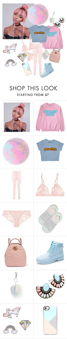 """Pastel"" by heidihansen0505 ❤ liked on Polyvore featuring Boohoo, La Perla, Happy Socks, Gucci, Topshop and Casetify"