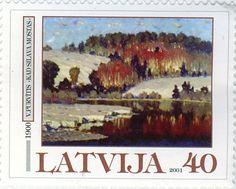 """2002.gada ikgadējā filatēlijas festivālā Vasto pilsētā Itālijā par 2001.gada labāko ārzemju pastmarku tika atzīta """"Latvijas Pasta"""" pastmarka, kurā attēlota Vilhelma Purvīša glezna """"Kad silava mostas"""". Filatēlijas festivālā katru gadu tiek godalgota labākā iepriekšējā gada ārzemju pastmarka, kas veltīta nacionālajai mākslai."""