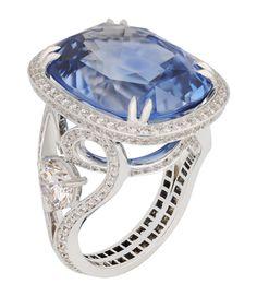 Fabergé Devotion Sky Blue Sapphire Ring #Fabergé #sapphire #ring