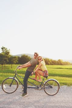 non-traditional registry Idea! TANDEM BIKe rental