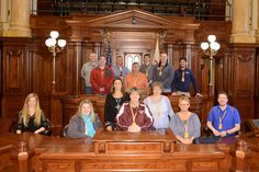 The adults on the Zion Marengo Springfield Trip inside the state capitol.