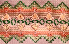 Huck embroidery - 183/365, 3/29/10 by vpickering, via Flickr