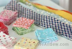 Several quilts that use up scraps. Love them all! Links to patterns or tutorials for the quilts shown.