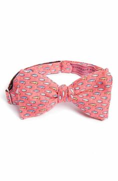 Football Vinegard Vines Boys Silk Bow Tie $45 Red New With Tags