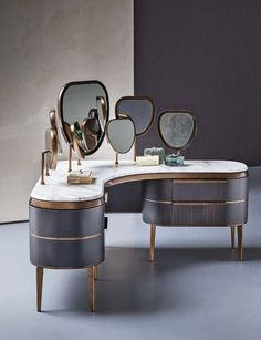 Wooden dressing table KARA | Dressing table - Natevo