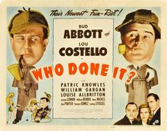 Abbott & Costello = Who Done It? Movie Posters From Movie Poster Shop