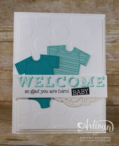 See the versatility with the Vertical Garden stamp set from Stampin' Up!. Create simple hello and welcome handmade cards.
