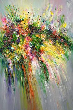 """Saatchi Art Artist Peter Nottrott; Painting, """"Green Happiness XL 1"""" #art"""