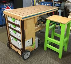 mobile workbench - MFT festool DIYmobile workbench - MFT festool DIYHow To Build A DIY MFT-Style Outfeed Table, Assembly Table & Workbench — Crafted Workshop UltraHD Adjustable Height Heavy-Duty Wood Top Workbench - Sam's Paulk Workbench, Wood Top Workbench, Portable Workbench, Mobile Workbench, Workbench Plans, Workbenches, Workshop Storage, Tool Storage, Wood Shop Projects