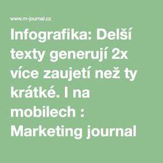 Infografika: Delší texty generují 2x více zaujetí než ty krátké. I na mobilech : Marketing journal