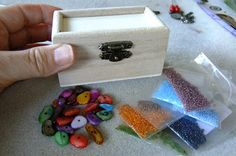 Beads by Ildiko: Step-by-step photos of the story of my latest wood...