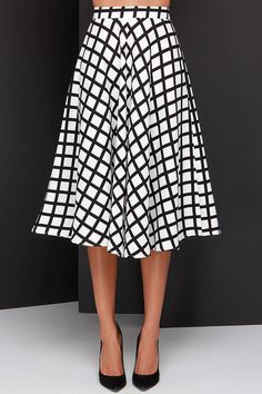awesome graphic midi skirt