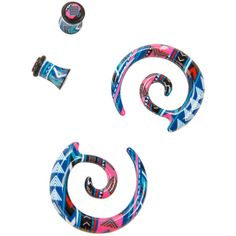 Hot Topic Acrylic Aztec Spiral Pincher & Plug 4 Pack (825 RUB) ❤ liked on Polyvore featuring accessories and hot topic
