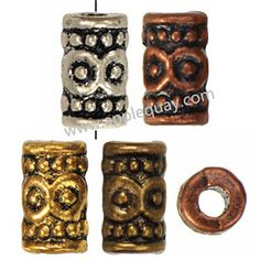 Zinc Alloy Tube Beads,Plated,Cadmium And Lead Free,Various Color For Choice,Approx 5.5*8mm,Hole:Approx 2.5mm,Sold By Bags,No 001892