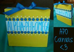 the cutest little piece of art Alpha Phi Omega, Big Little, Family Gifts, Craft Gifts, Art Pieces, Canvas, Handmade Gifts, Cute, Crafts