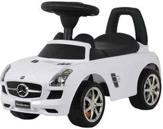 Best Ride On Cars Baby Toddler Ride-On Mercedes Benz Push Car with Sounds, White Benz Amg, Mercedes Benz Sls Amg, Love Drive, Push Toys, Seat Storage, Range Rover Evoque, Power Cars, Ride On Toys, Malm