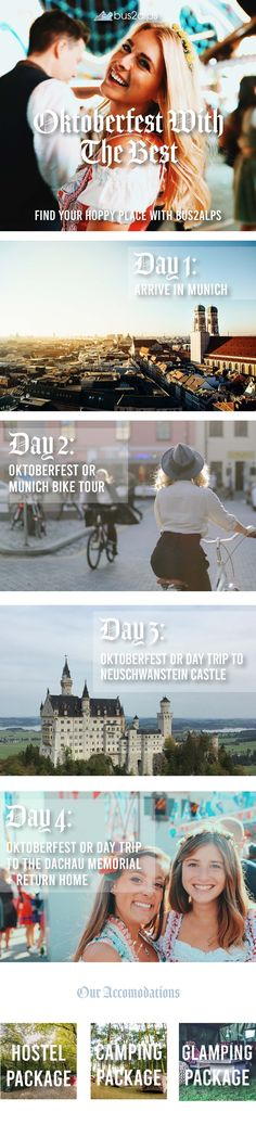 Oktoberfest 2019 with the Best – Oktoberfest 2019 with the Best We're going back to Oktoberfest 2019 all 3 weekends. Come along for the ride as we drink all the beers, ride through Munich, explore a castle, and don our dirndls and lederhosen like locals. Munich Oktoberfest, Camping Glamping, Lederhosen, Hostel, Long Weekend, Day Trip, Countryside, Tours, Explore