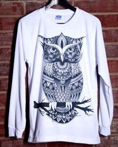Owl Zentangle Long Sleeve