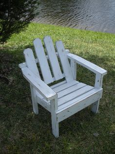 Adirondack Childs Chair  White Distressed  Childs by AtticJoys1, $56.00