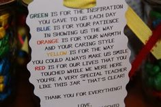 Thank you gift for teachers at daycare...