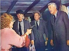 Anne Baxter, Kurt Russell, Strother Martin and Jimmy Stewart in Fools' Parade (1971)