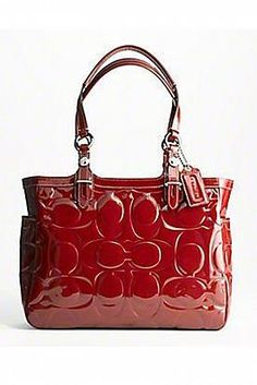 Red Coach Bag would look great on my arm.